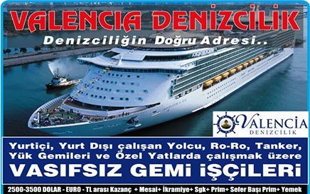 Gemi İş İlanları Valencia Denizcilik İskenderun